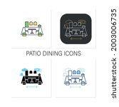 patio dining icons set.outdoor...   Shutterstock .eps vector #2003006735