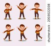 set of vector illustration of a ... | Shutterstock .eps vector #2003022038