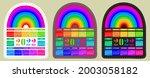 calendar sticker 2022 with... | Shutterstock .eps vector #2003058182