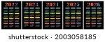 calendar 2022  2023  2024  2025 ... | Shutterstock .eps vector #2003058185