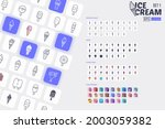 25 ice cream icon pack with 4...   Shutterstock .eps vector #2003059382