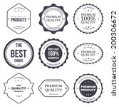 set of retro vintage badges and ... | Shutterstock .eps vector #200306672