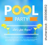 pool or beach party invitation... | Shutterstock .eps vector #200308052