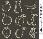 set of fruits  fruit  apple...   Shutterstock .eps vector #200308076