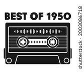 best of 1950 cassette tape   Shutterstock .eps vector #2003086718