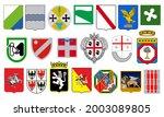 italian regions heraldry  italy ... | Shutterstock .eps vector #2003089805