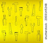 construction tools pattern...