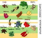 tasty sketchy food illustration.... | Shutterstock .eps vector #200315492