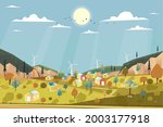 vector of green energy and eco...   Shutterstock .eps vector #2003177918