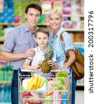 half length portrait of family... | Shutterstock . vector #200317796