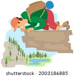 man suffering from fear of of... | Shutterstock .eps vector #2003186885