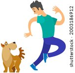 man frightened by dog suffers... | Shutterstock .eps vector #2003186912