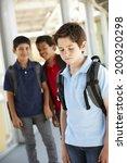 boy being bullied in school | Shutterstock . vector #200320298
