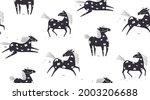 wild abstract horse seamless...   Shutterstock .eps vector #2003206688
