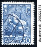denmark   circa 1951  stamp... | Shutterstock . vector #200321978