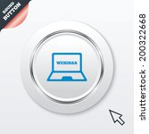 webinar laptop sign icon....