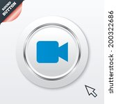 video camera sign icon. video...