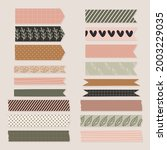 washi tape design collection.... | Shutterstock .eps vector #2003229035