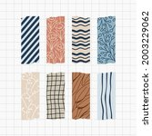washi tape design collection.... | Shutterstock .eps vector #2003229062