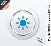 sun sign icon. solarium symbol. ...
