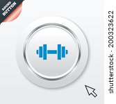 dumbbell sign icon. fitness...