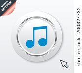 music note sign icon. musical...