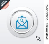 mail search icon. envelope...