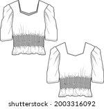 womens fashion  smoking blouse... | Shutterstock .eps vector #2003316092