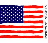 american flag for independence... | Shutterstock . vector #200334422