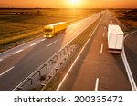 yellow and white truck in... | Shutterstock . vector #200335472