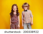 a portrait of a laughing girl... | Shutterstock . vector #200338922