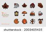 autumn icon vector set. filled...   Shutterstock .eps vector #2003405435