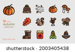 autumn icon vector set. filled...   Shutterstock .eps vector #2003405438
