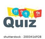 quiz vector logo isolate on... | Shutterstock .eps vector #2003416928