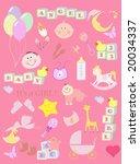 baby vector   Shutterstock .eps vector #20034337