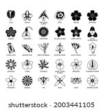 set of flower thin line and...   Shutterstock .eps vector #2003441105