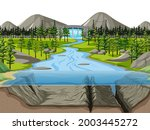 Nature Scene Landscape With...