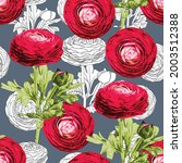 seamless pattern floral with... | Shutterstock .eps vector #2003512388