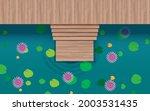 landscape of wooden bridge on... | Shutterstock .eps vector #2003531435