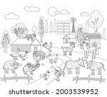 farm animals coloring book... | Shutterstock .eps vector #2003539952