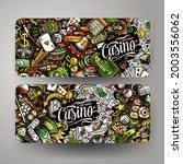 cartoon vector doodle set of... | Shutterstock .eps vector #2003556062