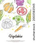 vegetarian food. vegetables are ...   Shutterstock .eps vector #2003583545