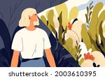 happy optimist focusing on good ... | Shutterstock .eps vector #2003610395