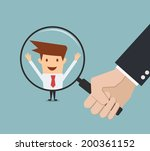 business man hand holding... | Shutterstock .eps vector #200361152