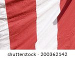 curtain of red and white colors | Shutterstock . vector #200362142