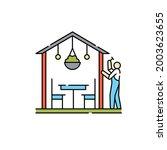 patio construction  olor line...   Shutterstock .eps vector #2003623655