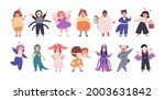 set of kids disguised in funny... | Shutterstock .eps vector #2003631842