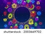 light frame label  circle bar... | Shutterstock .eps vector #2003669702