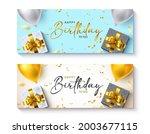 happy birthday vector banner... | Shutterstock .eps vector #2003677115
