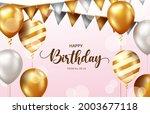 happy birthday vector... | Shutterstock .eps vector #2003677118